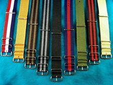 MOST POPULAR BRITISH MILITARY G-10 WATCH STRAPS, FIT MOST TIMEX TO ROLEX WATCHES