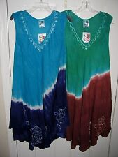 India Boutique SunDress Swim Coverup Free Size Fits XL / 1X See Measurements NWT