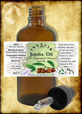100% Pure Golden/Unrefined Jojoba Oil 500ml,200ml,100ml,50ml,30ml,10ml+10% FREE