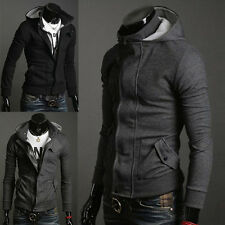❤LA BIG DISCOUNT❤Mens Warm Fitted Outwear Trench Coats Hooded Jackets Hoodies 0