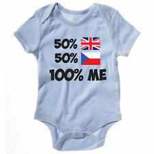 50% BRITISH 50% CZECH REPUBLIC 100% ME - UK / Europe / Novelty Themed Baby Grow