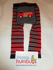 Blade & Rose FIRE ENGINE BLACK/GREY/RED cotton tights/leggings. New Baby Gift