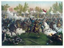 9048.Battle of Cedar Creek.soldiers marhing foward.POSTER.decor Home Office art