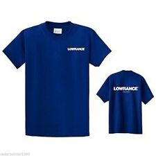 New LOWRANCE T-Shirts Sizes M - 3X Bass Fishing Boat Electronics Appreal
