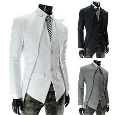 Asymmetry Mens tailored Suits Formal Casual Single breasted Jacket Coats Blazer