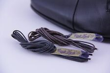 (2 Pairs, 4 Laces) Wax Shoe Laces Round Waxed Shoestrings Strings Shoelaces