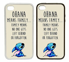 Ohana Means Family - Rubber and Plastic Phone Cover Case Lilo Stitch Inspired