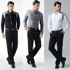 SO CHEAP Men Casual Formal Work HOT STYLE Dress Shirts Long Sleeve Business S~XL