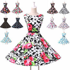 Vintage Rockabilly Sexy 50s 60s Country Audrey Hepburn Full Circle Swing Dresses