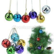 Pack of 6 Color Christmas Celebrate Hanging Disco Mirrored Glass Balls Ornaments