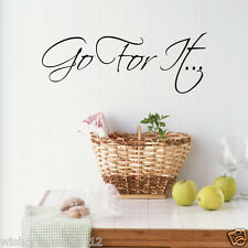 Go for it quote wall sticker Inspirational decor stickers
