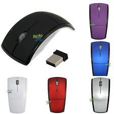 Wireless Foldable Arc 2.4 GHz Optical Mouse Fold Mice USB Receiver for PC Laptop