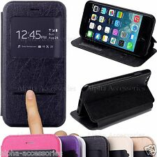 "S-View Slim Flip Leather Stand Battery Case For Apple iPhone 6 4.7"" & Plus 5.5"""