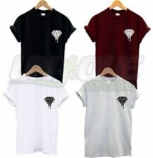 DRIPPING BLOOD DIAMOND BREAST LOGO T SHIRT TEE DOPE SWAG HIPSTER TUMBLR TSHIRT