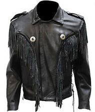 Mens Leather Bon Jovi Jacket With Braid, Chonchos, Z/O Lining 252