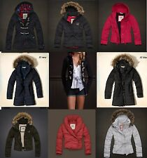 NWT Hollister by Abercrombie Wool Toggle Fur Hoodie Parka Jacket Coat sz XS S M