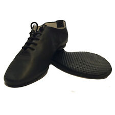 Kids Laced Jazz Leather Dance Shoes Full Rubber Sole - Brand New Size 10 or 11