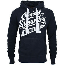 Superdry Hoody Hoodie MS2JX104 Number 1 Co Hooded Sweatshirt  S M L XL XXL  Navy