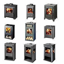 High Efficient Modern Multi Fuel Wood Burning Log Burner Stove Steel WoodBurner