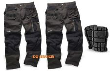 SCRUFFS Trade 3d Work Trousers Twinpack Graphite Grey WITH FREE KNEEPADS
