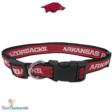 NCAA Pet Fan Gear ARKANSAS RAZORBACKS Collar Collars for Dog Dogs Puppy