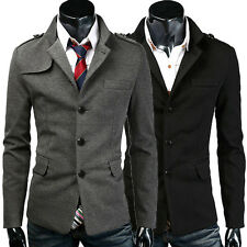 US CHEAP~ Stylish Mens Casual Slim Suit Blazer Trench Coat Jacket Outwear Tops
