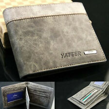 Mens Genuine Leather Wallet Purse Business Credit Card Holder Bifold New