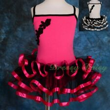 Ribbon Ballet Tutu Girl Children Dance Costume Fancy Party Dress Up Size 2-7 026