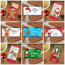 PERSONALISED CHOCOLATE Gifts For Christmas Stocking Fillers Childrens Bars Kids