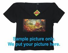 Customized / Personalized Ladies Cotton/Lycra Tops with your full colour image