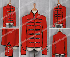 Red Black My Chemical Romance Parade Military Jacket Comfortable To Wear Cool