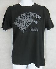 Game of Thrones Officially Licensed T-Shirt Direwolf Stark Black Wolf New