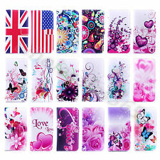 For Various Cellphones Book Type Card Slot Wallet Leather Media Stand Case Cover