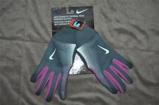 Nike Womens Thermal Tech Running Gloves Touch Screen Compatible Gray/Pink NWT