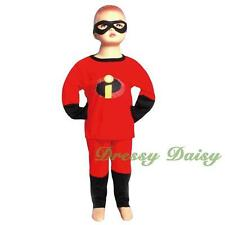 Incredibles Superhero Boy Halloween Fancy Costume Outfit Kid Size 2 3 4 5 6  008