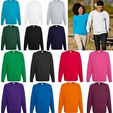 1 / 3 oder 5 x Lightweight Raglan Sweat Sweatshirt Damen Herren TOP  62-138-0