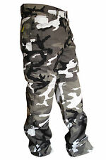 MENS GREY COTTON CAMO REINFORCED PROTECTIVE LINING MOTORBIKE MOTORCYCLE TROUSERS
