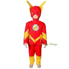 The Flash Superhero Fancy Costume Outfit Party Halloween Kid Size 2 3 4 5 6 #032