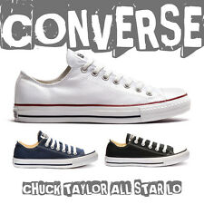 Converse Womens Mens Unisex Chuck Taylor All Star Lo Canvas Shoes White Black