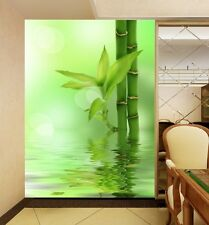 3D Green bamboo Water Wall Murals Wallpaper Decal Decor Home Kids Nursery Home