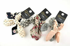 Set of 2 Ladies Womens Bow Hair Elastic Bands Elastic Scrunchie Bobbles PRIMARK