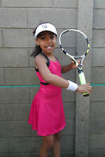 Girls Pink Tennis Dress Netball/Badminton/Squash age 5-14 year old