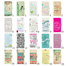 Retro Faith Bible Verse Magnetic Wallet Flip PU Leather Case For iPhone Samsung