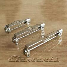 Quality Brooch Back Bar Pins Safety Rolling Catch Nickel Plated MULTI LISTING