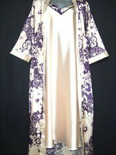 SILK SET: GOWN & ADJUSTABLE STRAP NIGHTDRESS(FULL LENGTH)FREE POSTAGE UK ONLY*