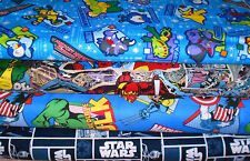 SUPER HEROS  FABRICS GROUP15  SOLD BY THE HALF YARD