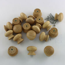 wooden drawer knob cabinet pull round unpolished unvarnished ready for staining