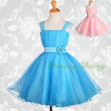 Sequins Wedding Flower Girl Bridesmaid Party Occasion Dress Kid Size 3-12 FG031A