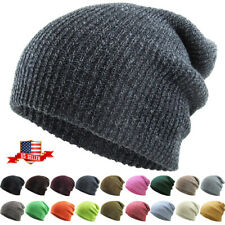 Knit Men's Women's Baggy Beanie Oversize Winter Hat Ski Slouchy Chic Cap Skull
