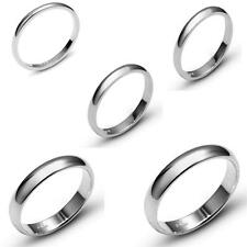 SOLID 10K WHITE GOLD PLAIN COMFORT FIT WEDDING BAND RING MENS WOMEN SIZE 5-13